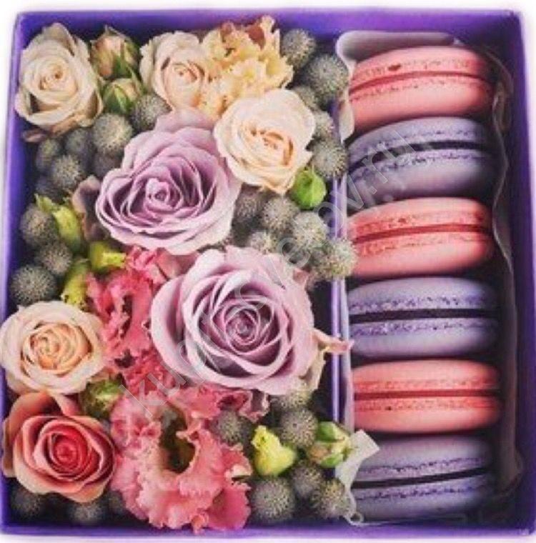 Подарок с макаронами и цветами 65