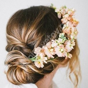 Венок на голову из живых цветов купить москва