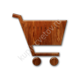 Glossy-waxed-wood-icon-business-cart-solid